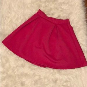 Hot pink small skater skirt